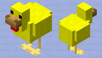 YELLOW CHICKEN FOR PMC Minecraft Mob Skin