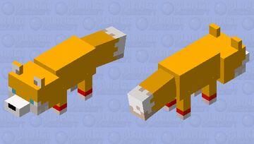 tails the fox Minecraft Mob Skin