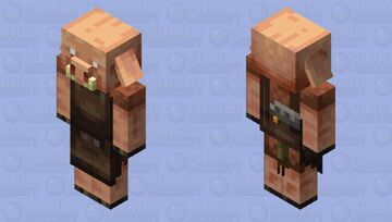 Toolsmith Piglin Minecraft Mob Skin