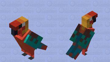 Cuban Macaw Minecraft Mob Skin
