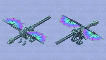 Robotronic pump-action flying dragon (prototype) Minecraft Mob Skin