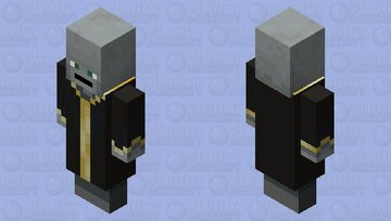 Why did I do this (no nose/eyebrows evoker) Minecraft Mob Skin