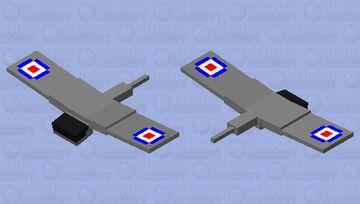 WWII English Fighter Plane Minecraft Mob Skin