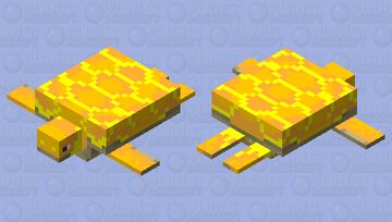 Golden turtle Minecraft Mob Skin
