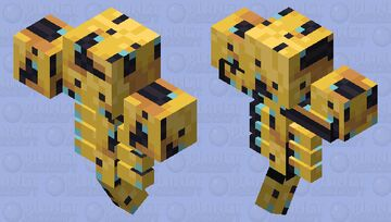 Bee Lathered Wither Minecraft Mob Skin
