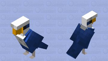 Blue budgie Minecraft Mob Skin