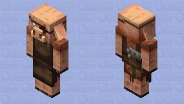 Weaponsmith Piglin Minecraft Mob Skin