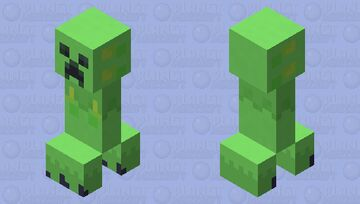 mobile peat moss creeper Minecraft Mob Skin