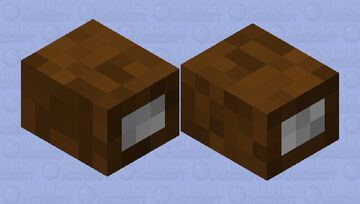 Chocolate with Filling Minecraft Mob Skin
