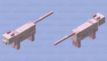 Pastel Pink Cat Minecraft Mob Skin