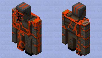 Lava/Rust Golem Minecraft Mob Skin