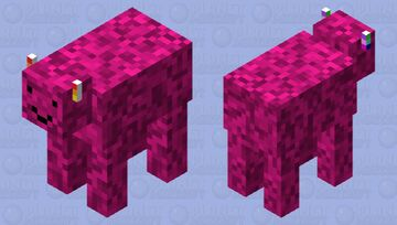 Happy wierd cow Minecraft Mob Skin