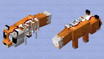 The REAL Phantom Fox Minecraft Mob Skin