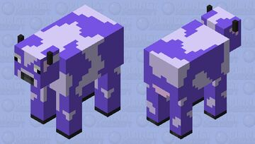 Weird chill purple cow Minecraft Mob Skin