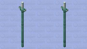 Single-Point Trident Minecraft Mob Skin