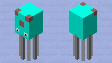 tentacool Minecraft Mob Skin