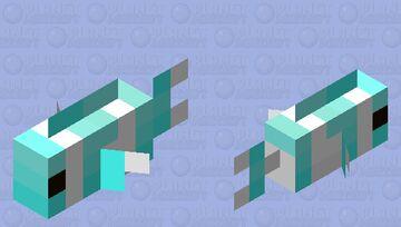 Blue Fish Boi Minecraft Mob Skin