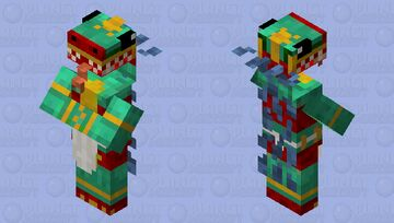 Quetzelcoatl Villager with Tongue! Minecraft Mob Skin