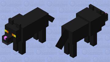 Black Minecraft Cat Doggie Minecraft Mob Skin