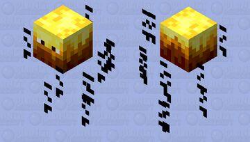 Text Analyzing Blaze Minecraft Mob Skin
