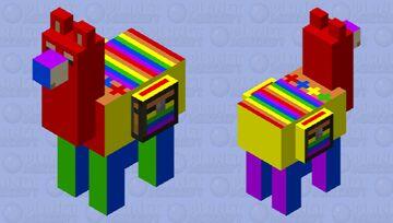 Colorful Llama Minecraft Mob Skin
