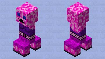 Girly Creeper Minecraft Mob Skin