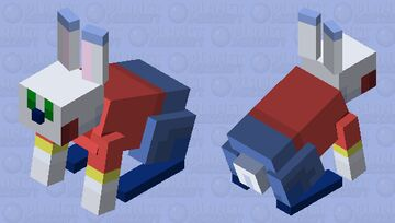 Toy Soldier Bunny Minecraft Mob Skin