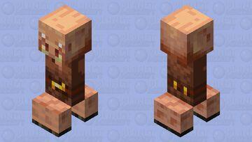 Piglin Creeper Minecraft Mob Skin