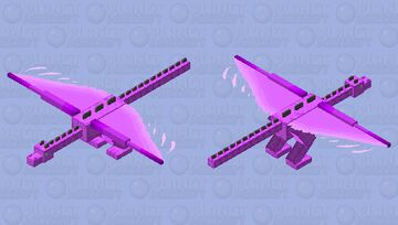 Purple Wyvern *this one is contest now :D Minecraft Mob Skin