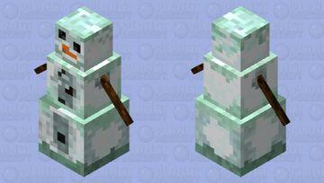 Snowier SnowGolem Minecraft Mob Skin
