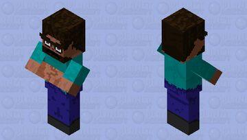 Refract Big Brain Steve Minecraft Mob Skin