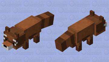 Brown Raccoon/ Red Panda Minecraft Mob Skin