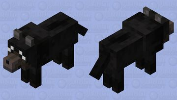 Black Dog Minecraft Mob Skin