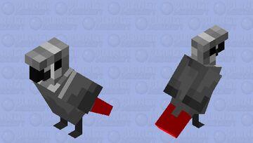 African Grey Parrot Minecraft Mob Skin