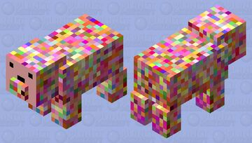 Weirdo Pig Minecraft Mob Skin