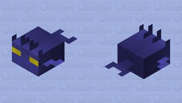 Young Undisturbed Devil Fish (Colored Blue to Hide Easier In The Water) Minecraft Mob Skin