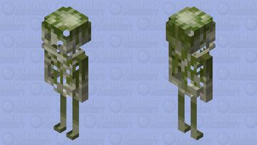 Better skeleton moss Minecraft Mob Skin