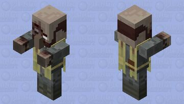 Fallout Themed Zombie Priest Minecraft Mob Skin