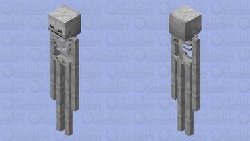 After the SSBU enderman, the SSBU skeleton ! Minecraft Mob Skin
