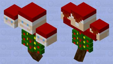 Christmas Wither Minecraft Mob Skin