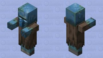 Drowned Villager / Illager Minecraft Mob Skin