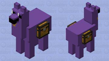 Purple Guy Llama Minecraft Mob Skin