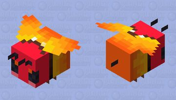 Fire / Mad Bee Minecraft Mob Skin