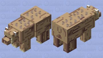 Hoglin polar bear Minecraft Mob Skin