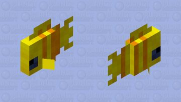 Yellow Striped Tropical Fish Minecraft Mob Skin