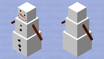 Snow Man Minecraft Mob Skin