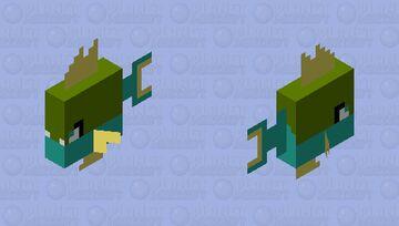 Shiny Carvanha Minecraft Mob Skin