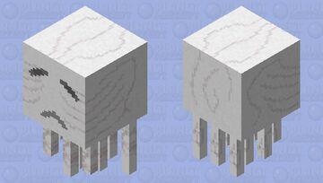 HD Cartoony Ghast Minecraft Mob Skin