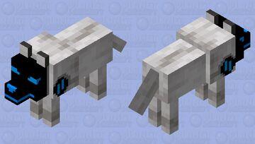 Wolf Protogen Minecraft Mob Skin
