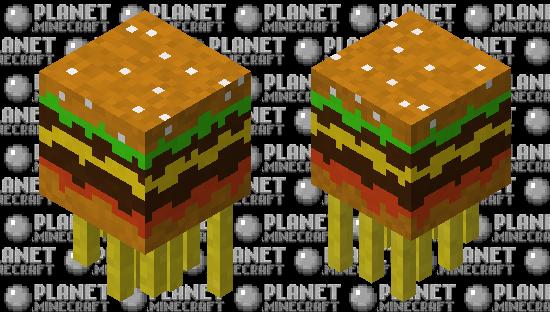 Burger ghast with fries Minecraft Skin